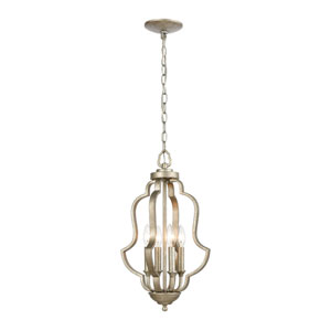 Lanesboro Dusted Silver Four-Light Pendant