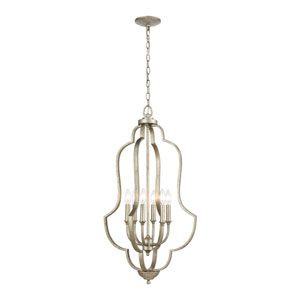 Lanesboro Dusted Silver Six-Light Pendant