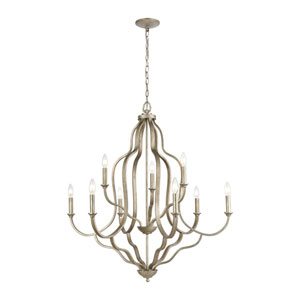 Lanesboro Dusted Silver Nine-Light Chandelier