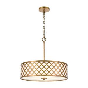 Arabesque Bronze Gold Four-Light Chandelier
