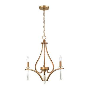 Katania Antique Gold Three-Light Chandelier