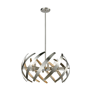 Carthage Satin Nickel Six-Light Pendant