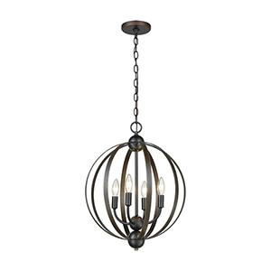 Duvoux Oil Rubbed Bronze Four-Light Pendant