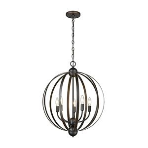 Duvoux Oil Rubbed Bronze Five-Light Pendant