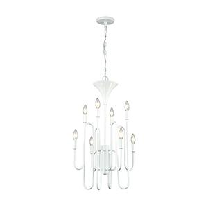 Decatur Matte White Eight-Light Chandelier