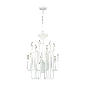 Decatur Matte White 12-Light Chandelier