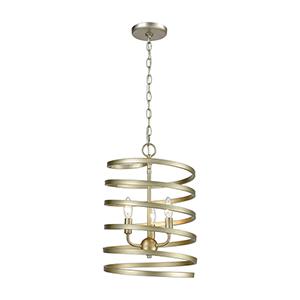 Whirlwind Aged Silver Three-Light Pendant