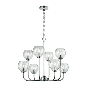 Emory Polished Chrome Eight-Light Chandelier