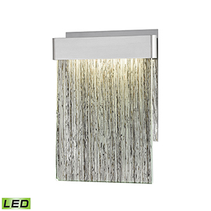 Meadowland Satin Aluminum and Polished Chrome LED Wall Sconce
