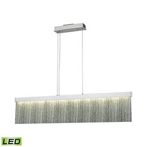 Meadowland Satin Aluminum and Polished Chrome LED Pendant