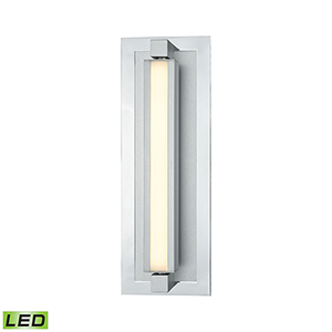 Kiara Frosted Polished Nickel and Satin Aluminum 3000K LED Vanity Light