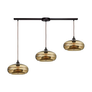 Hazelton Oil Rubbed Bronze Three-Light Pendant