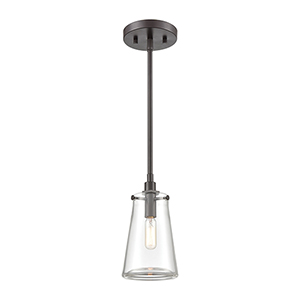 Beaker Oil Rubbed Bronze One-Light Mini Pendant