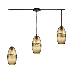 Melvin Oil Rubbed Bronze Three-Light Pendant