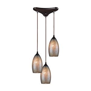 Illuminessence Oil Rubbed Bronze Three-Light 12-Inch Pendant