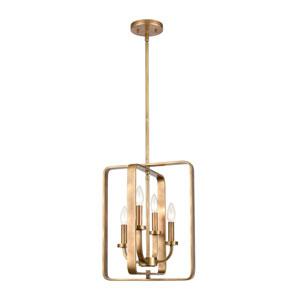 Erindale Natural Brass Four-Light Pendant