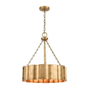 Clausten Natural Brass Four-Light Chandelier
