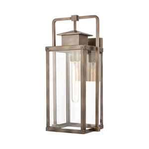 Crested Butte Vintage Brass Eight-Inch One-Light Outdoor Wall Sconce