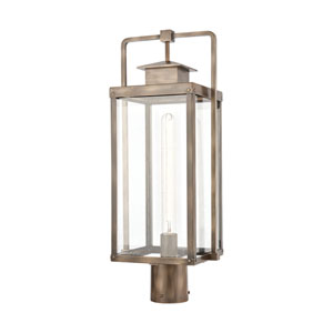Crested Butte Vintage Brass One-Light Outdoor Post Mount