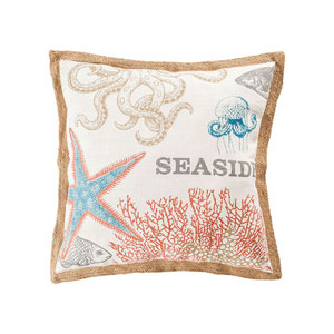 Great Reef Coral 24-Inch Accent Pillow
