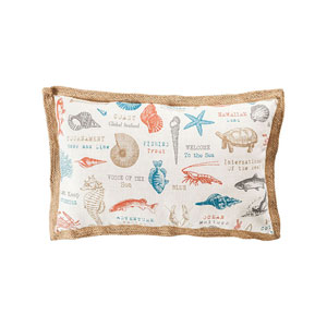 Great Reef Coral 26-Inch Accent Pillow