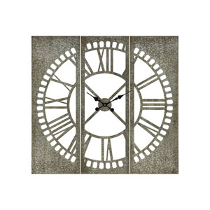 Pierce Galvanized Wall Clock