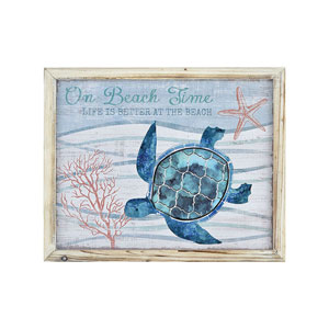 Cool Waters Beach Time 19-Inch Wall Art