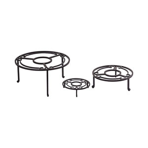 Camille Rustic Outdoor Pedestal, Set of Three