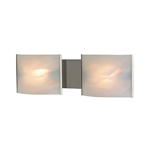 Pannelli Stainless Steel Two-Light Bath Vanity