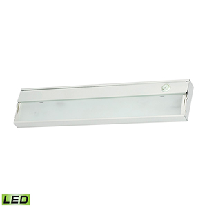 White Two-Light LED Under Cabinet