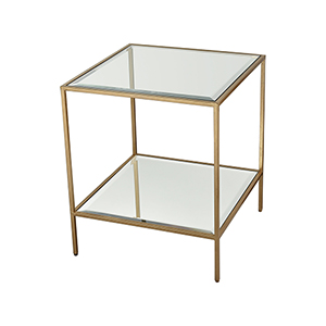 Scotch Mist Gold Leaf Accent Table