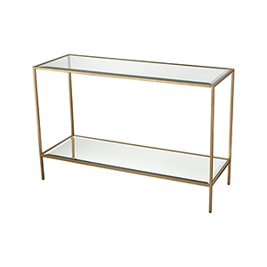 Scotch Mist Gold Leaf Console Table