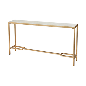 Equus Gold and White Console Table