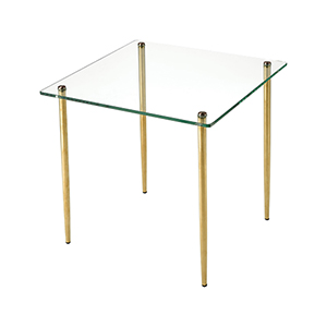 On Point Gold Accent Table