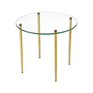 On Point Round Gold Accent Table