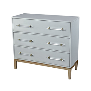 Girl Light Grey and Gold Cabinet