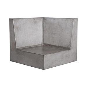Polished Concrete Outdoor Sofa
