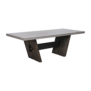 Hoss Heritage Oak and Polished Concrete Dining Table