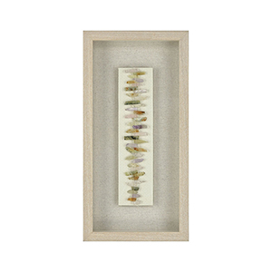 Washed Pine with Natural Linen Wall Art