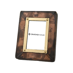 Cassius Antique Copper and Gold 9-Inch Picture Frame