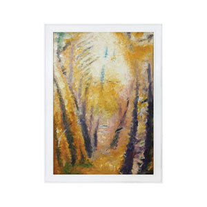 Handpainted Wall Art Gloss White Fall Hollow Wall Art