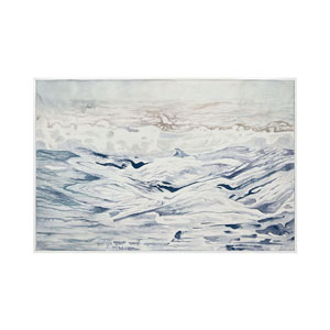 Handpainted Wall Art Gloss White Rip Tide Wall Art