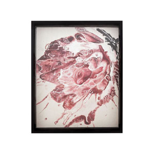 Handpainted Wall Art Gloss Black Spatter Wall Art