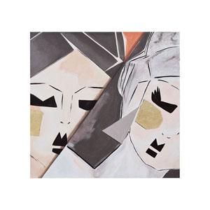Handpainted Wall Art Gloss White Origami Ladies Wall Art