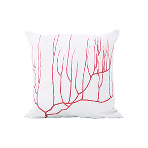 Tropical Handpainted Art Accent Pillow
