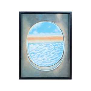 Plane Window Vi Multi-Color Wall Art