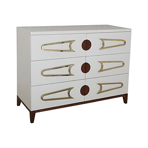 Bang White and Polished Brass Cabinet