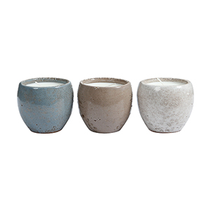 Carefree Pharoh Brow, Grey, and White Candle Holder