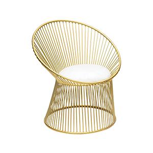 Cecilia Chair Gold Chair