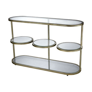 Stacked Gold Leaf Console